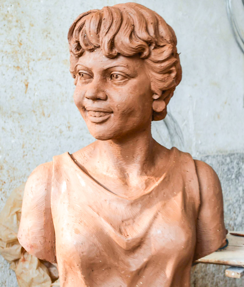 Dr. Vivienne Malone-Mayes is being honored with a 22-inch marble bust, tentatively scheduled to be installed in late spring inside the Sid Richardson Building near the Baylor Department of Mathematics.Pictured is a preliminary clay version subject to alteration before the final design. The sculpture will be the first of a female professor or alumna on campus.