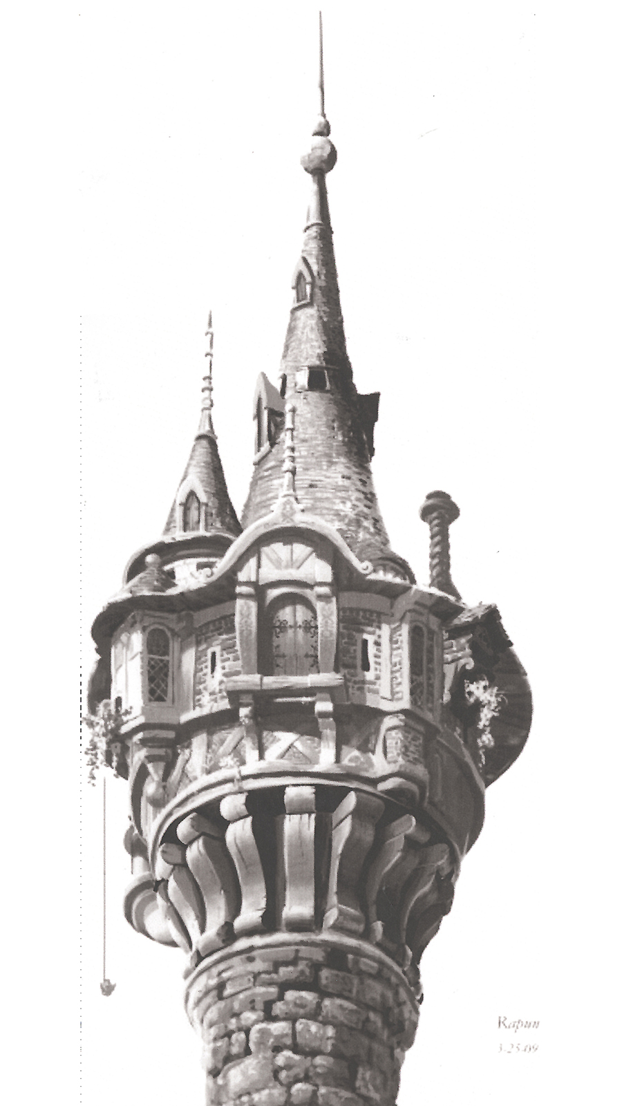 Rogers work on Tangled included this Tower concept