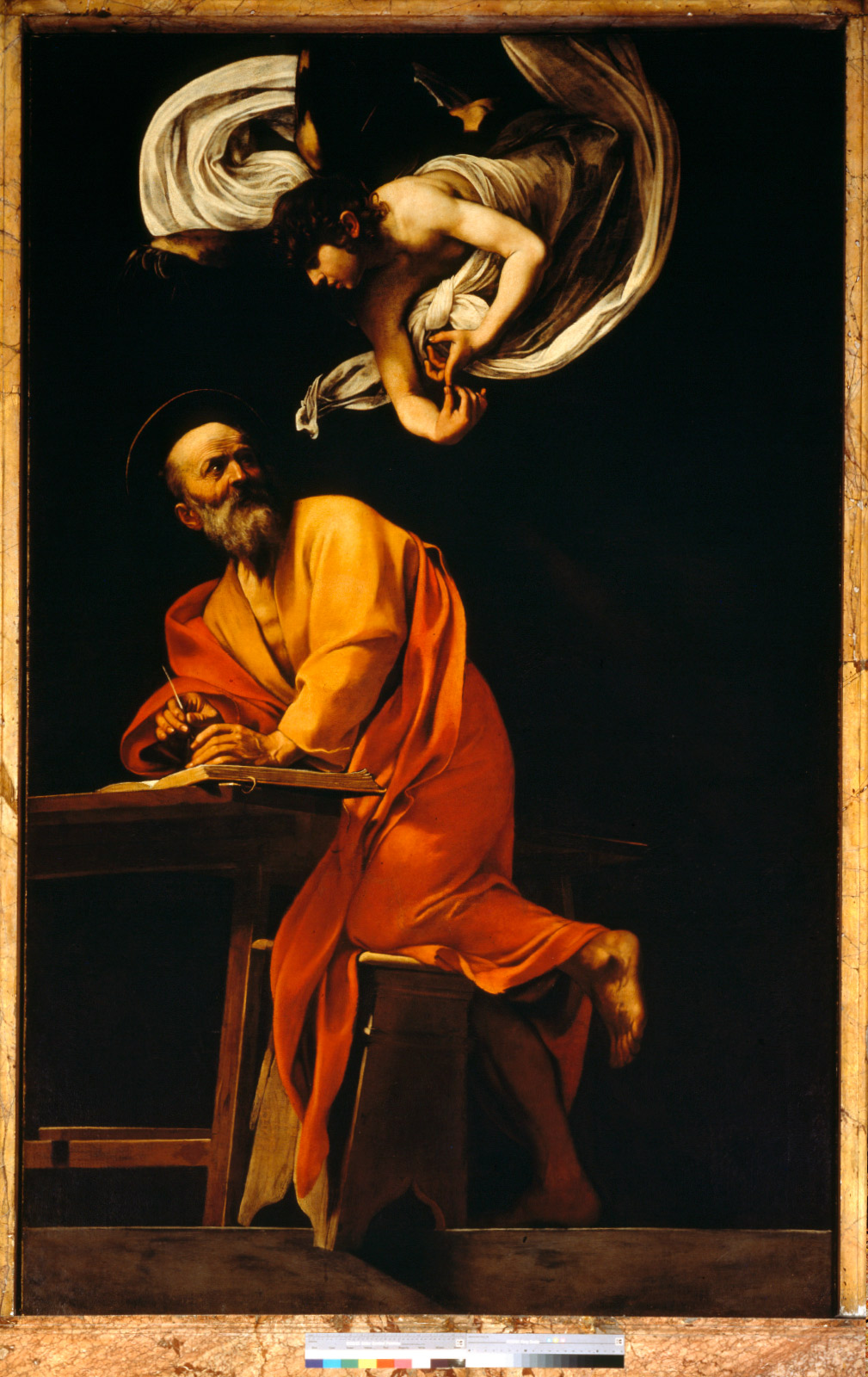 Caravaggio's Saint Matthew and the Angel painting