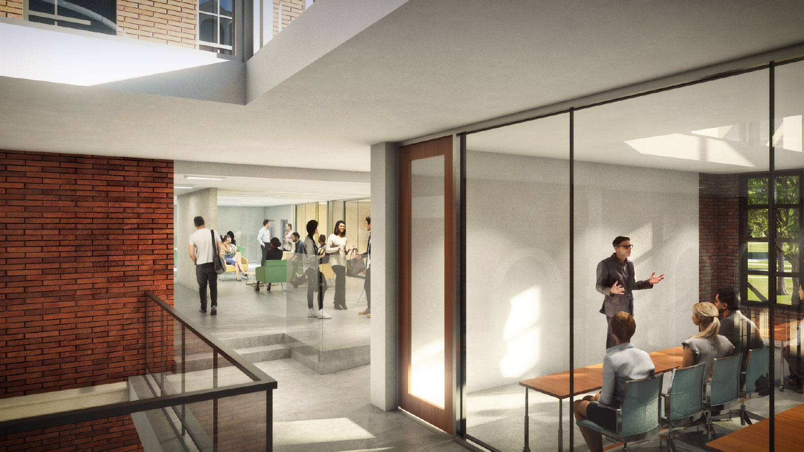 interior rendering of class space