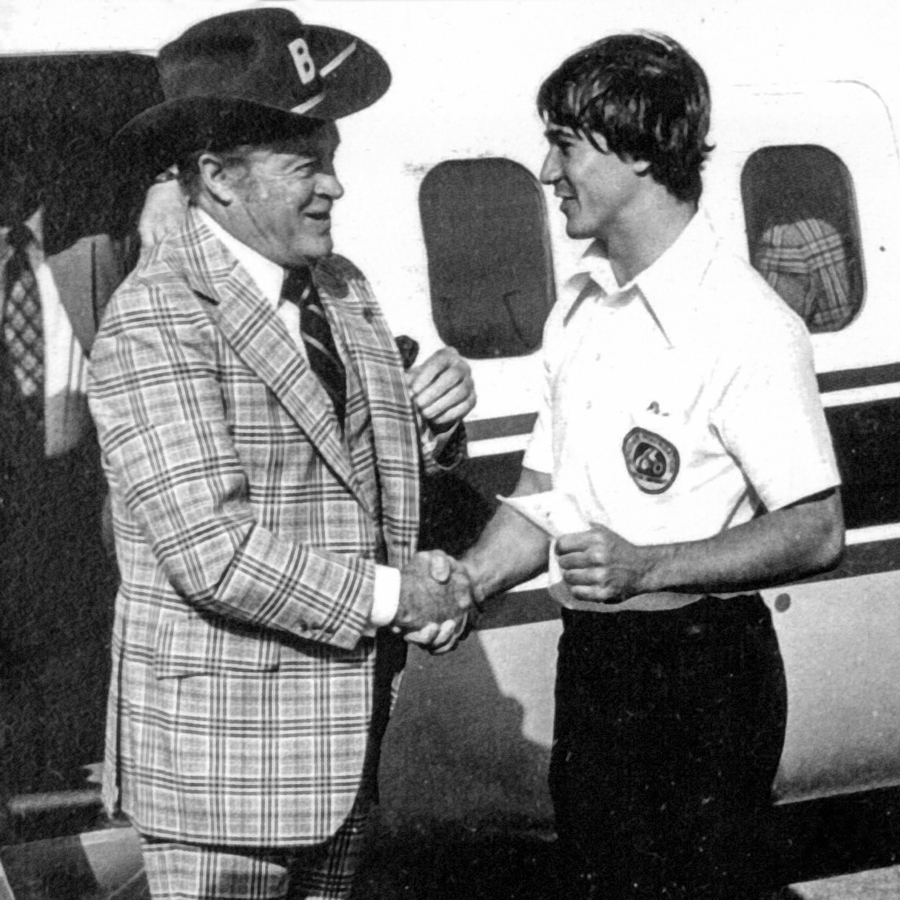 Student Foundation hosted an evening with Bob Hope in 1974 to raise funds for student scholarships.