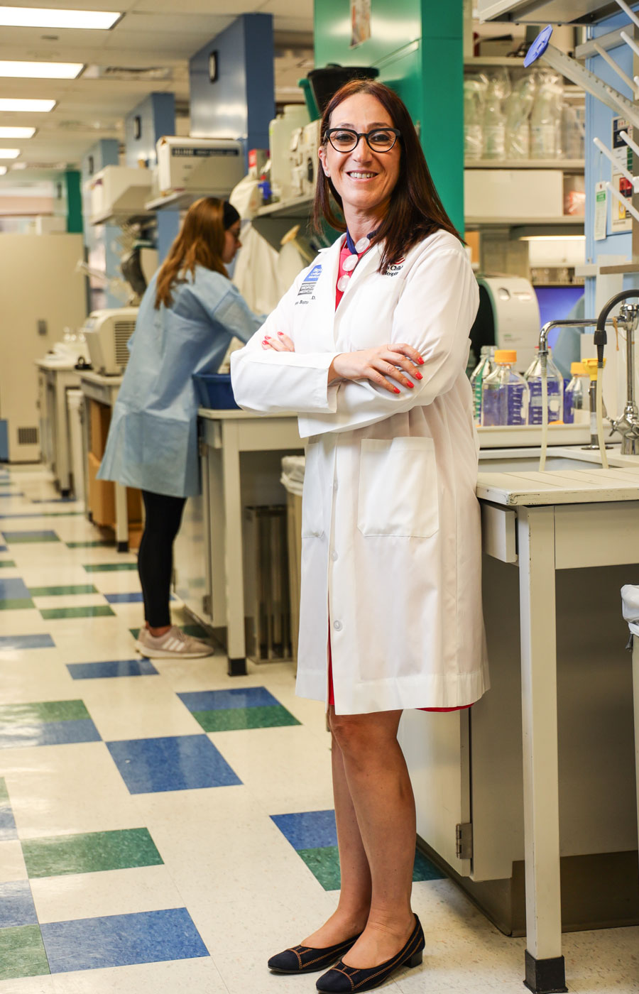 Dr. Maria Bottazzi, NSTM associate dean and professor, Distinguished Professor of Biology at Baylor University, and co-director of the Texas Children's Hospital Center for Vaccine Development