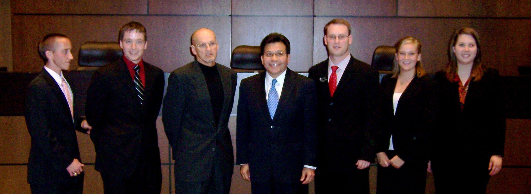 Moot Court_Texas Tech 2009 with Alberto Gonzalez
