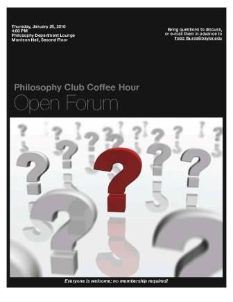 Philosophy Club - Jan 28