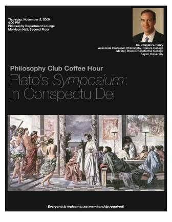 Dr. Henry presents on Plato\'s Symposium - Nov 5