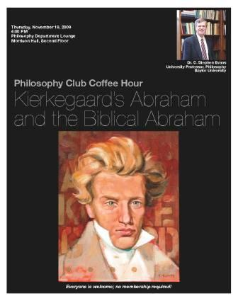 Dr. C Stephen Evans presents on Kierkegaard\'s Abraham and Isaac - Nov 19
