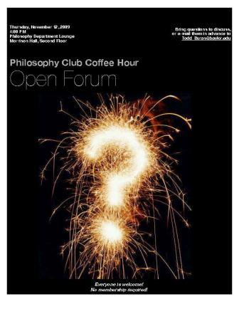 Phil Club Open Forum - Nov 12