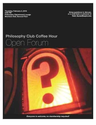 Philosophy Club - Feb 4