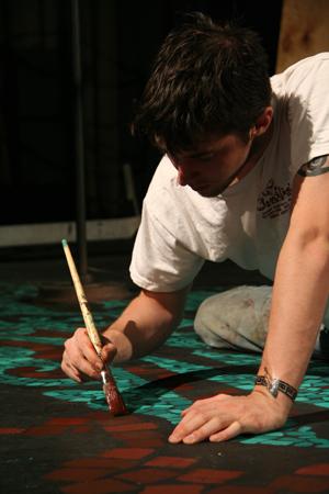 Matt scene painting.