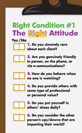 The Right Attitude