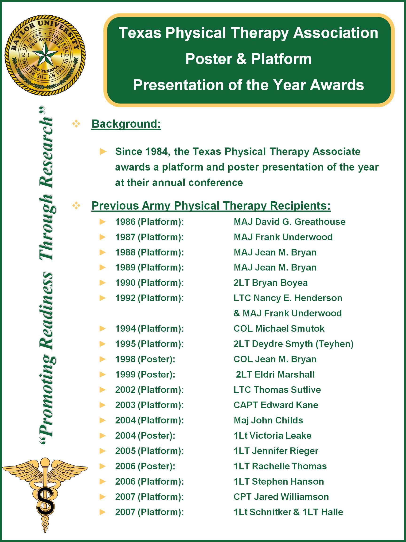 TPTA Award