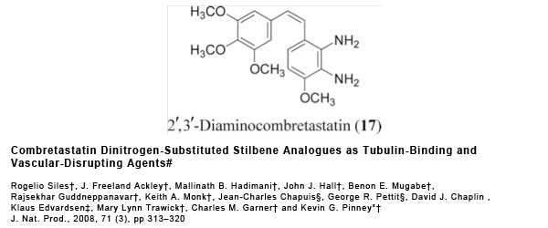 Research - Combretastatin Dinitrogen-Substituted-Stilbene