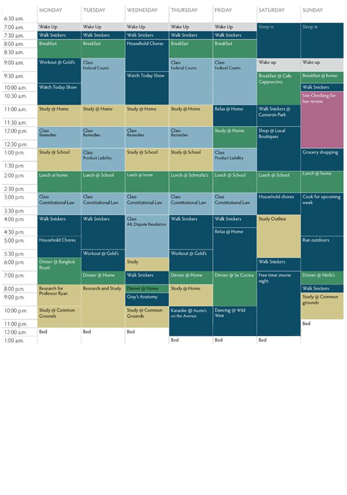 Cheryl Schedule