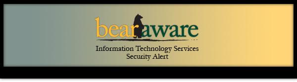 Bear Aware Security Alert