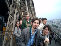 Baylor Theatre Students at the Eiffel Tower