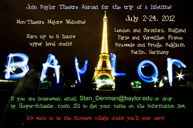 Baylor Theare Study Abroad