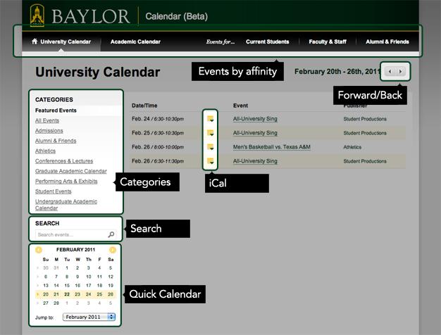 New Baylor Calendar