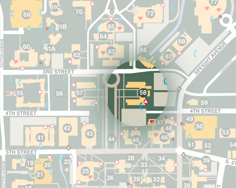 Sid Richardson Building on Baylor Campus Map