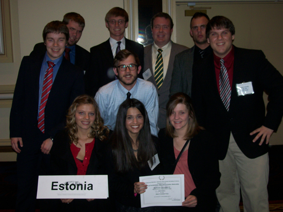 2010 MUN Team Outstanding Delegation