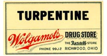 Turpentine Label