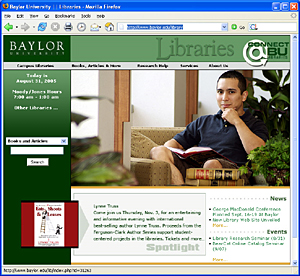 Library Splash Page