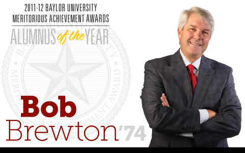 Title Treatment for Bob Brewton, Alumnus of the Year