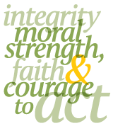 The tenets of Baylor: integrity, moral strength, faith, and courage to act