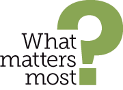 Text treatment of What Matters Most?