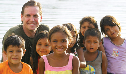 A photo of Johnson Ellis on a mission trip