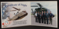 Certification of Flight, Sikorsky VH-92, with photo in beige folder
