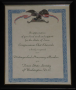 Certification, Honorary Member of Texas State Society of Washington, D.C.