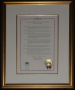 Framed, TAMU Health Science Center Proclamation