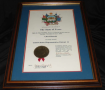 Framed Certificate of Chet Edwards election to officers US Rep. Dist. 11, Nov 6, 1990