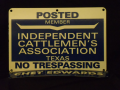 Metal Sign (1), Independent. Cattlemen's Association.