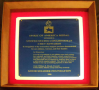 Spirit of America Medal, from Good Soldier Foundation, framed, 2006