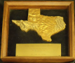 Framed, bronze, state of TX,