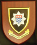 London Fire Brigade, shield mounted on wood