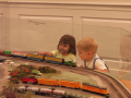 Kids looking at train (Hi- Res)