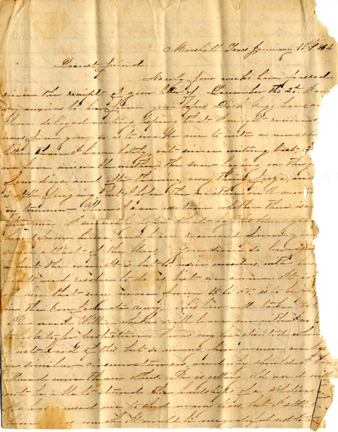 an original letter from a soldier in the civil war is one of many now available to view online at baylors electronic library