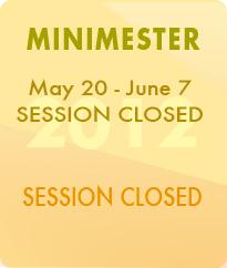 Minimester May 14-June1