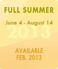 Full Summer May 30-August 8