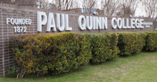 paul quinn college campus sign - current