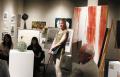 Dr. Edwards addressing the visitors at Art Encounter
