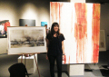 Kate Sterchi and her artwork (L)