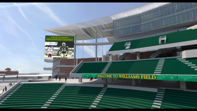 Artist's Rendering of John Eddie Williams Field at Baylor Stadium