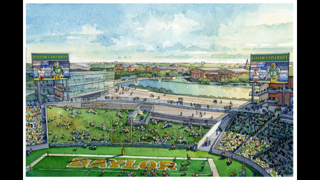 Artist's Rendering, Endzone View, Proposed Baylor Stadium