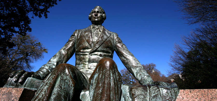 Judge R.E.B. Baylor Statue