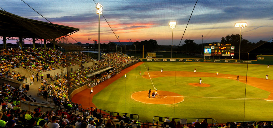 Baylor Ballpark at Sunset