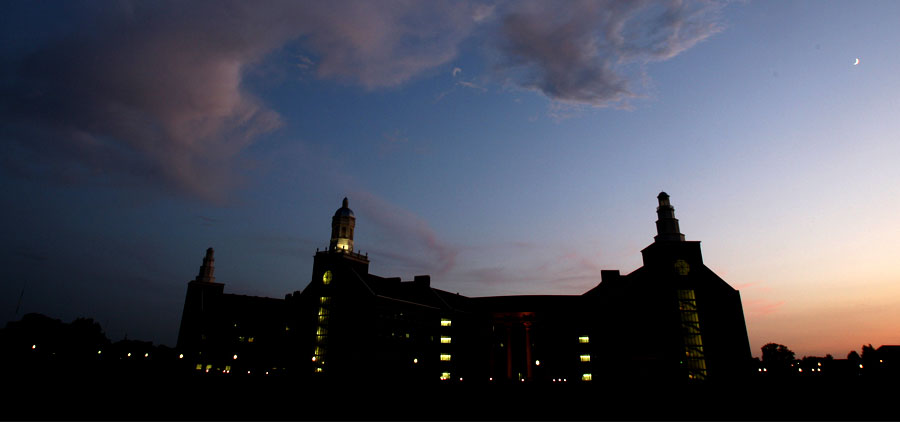 Baylor Sciences Building at Dusk
