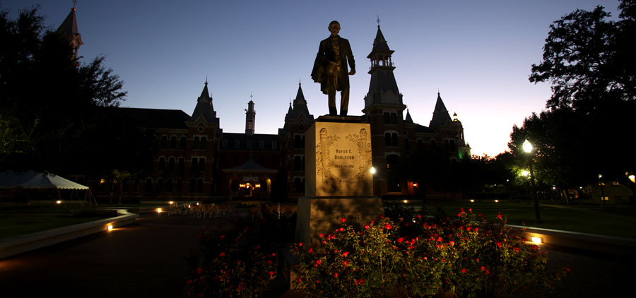 Burleson Quadrangle at Dusk